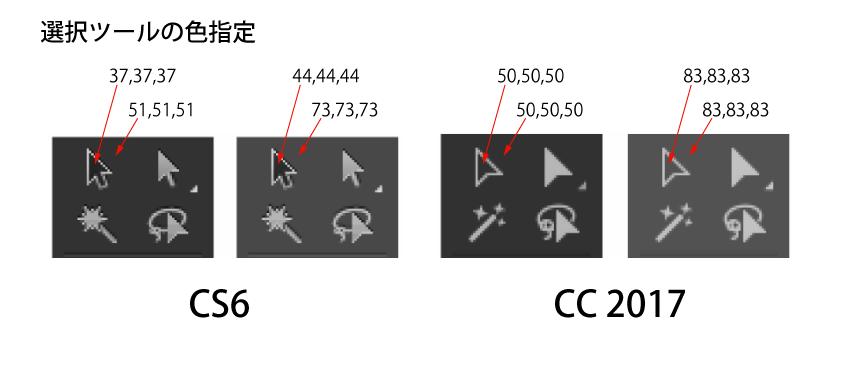 Adobe Illustrator CS6 と CC 2017の選択ツール